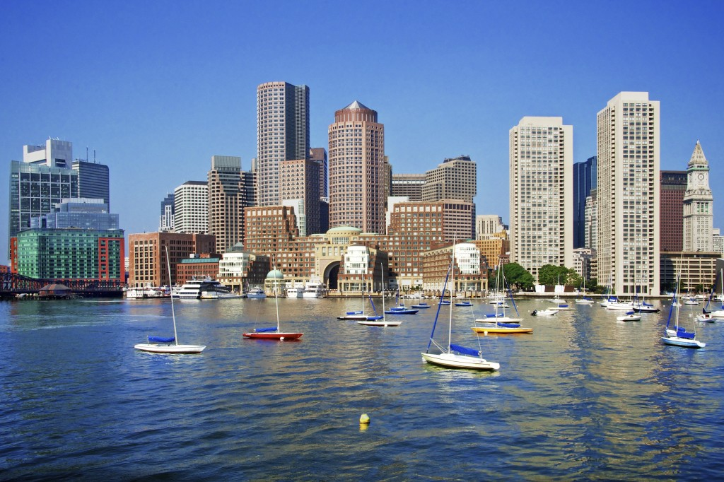 Boston Skyline on a Sunny Day