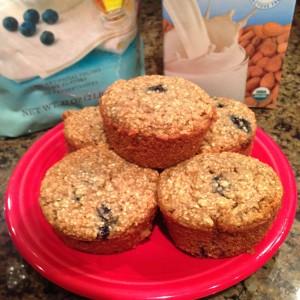 Blueberry Oat Muffins (Gluten Free, Dairy Free)