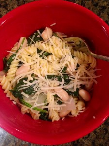 Pasta with White Beans and Spinach