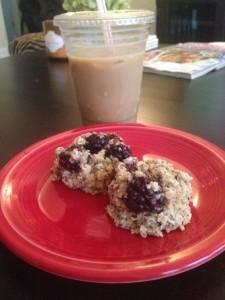 Lemon Blackberry Breakfast Cookies (Gluten Free, Dairy Free)