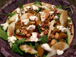 Roasted Beet, Pear, and Goat Cheese Salad
