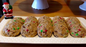 Mini M&M and Chocolate Chip Cookies