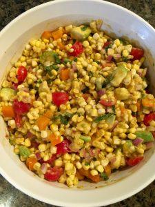 Corn and Avocado Salad with Chili-Lime Dressing